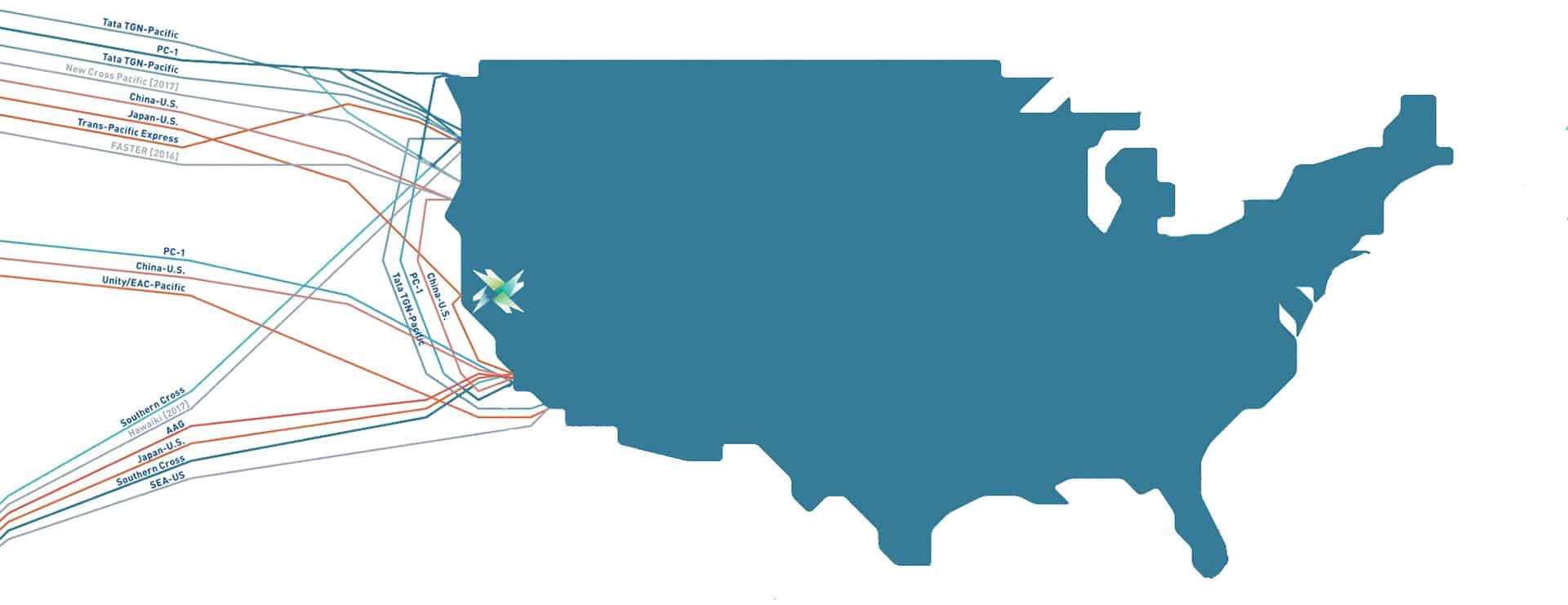 Sacramento Data Center Cable Map
