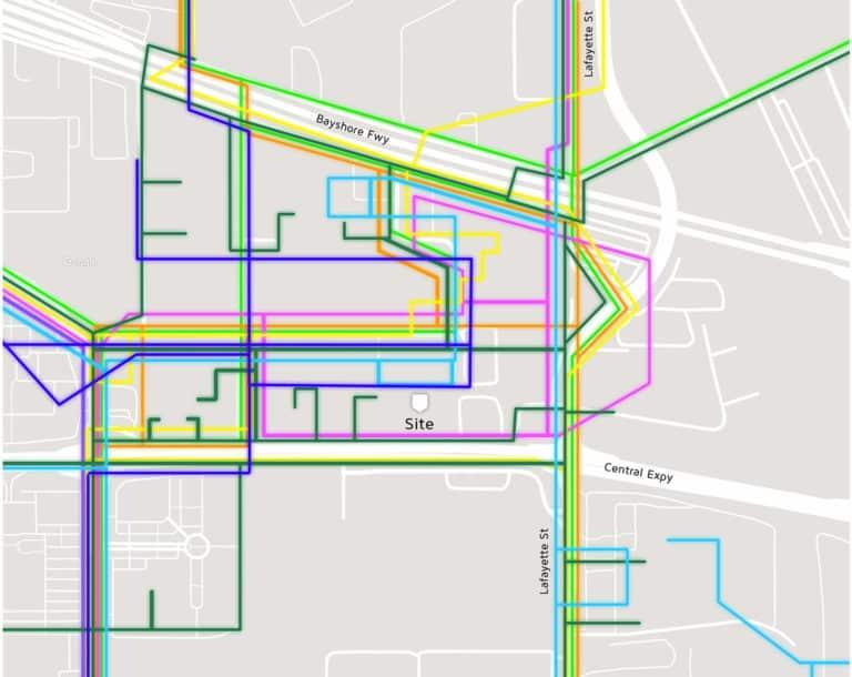 1111 Comstock Fiber Map- Santa Clara data center