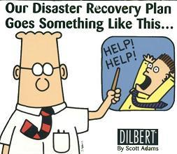 Dilbert cartoon on disaster recovery