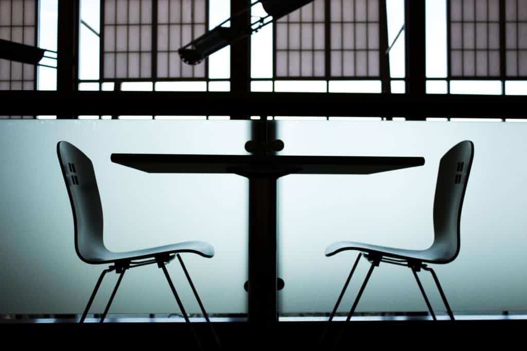two interview chairs