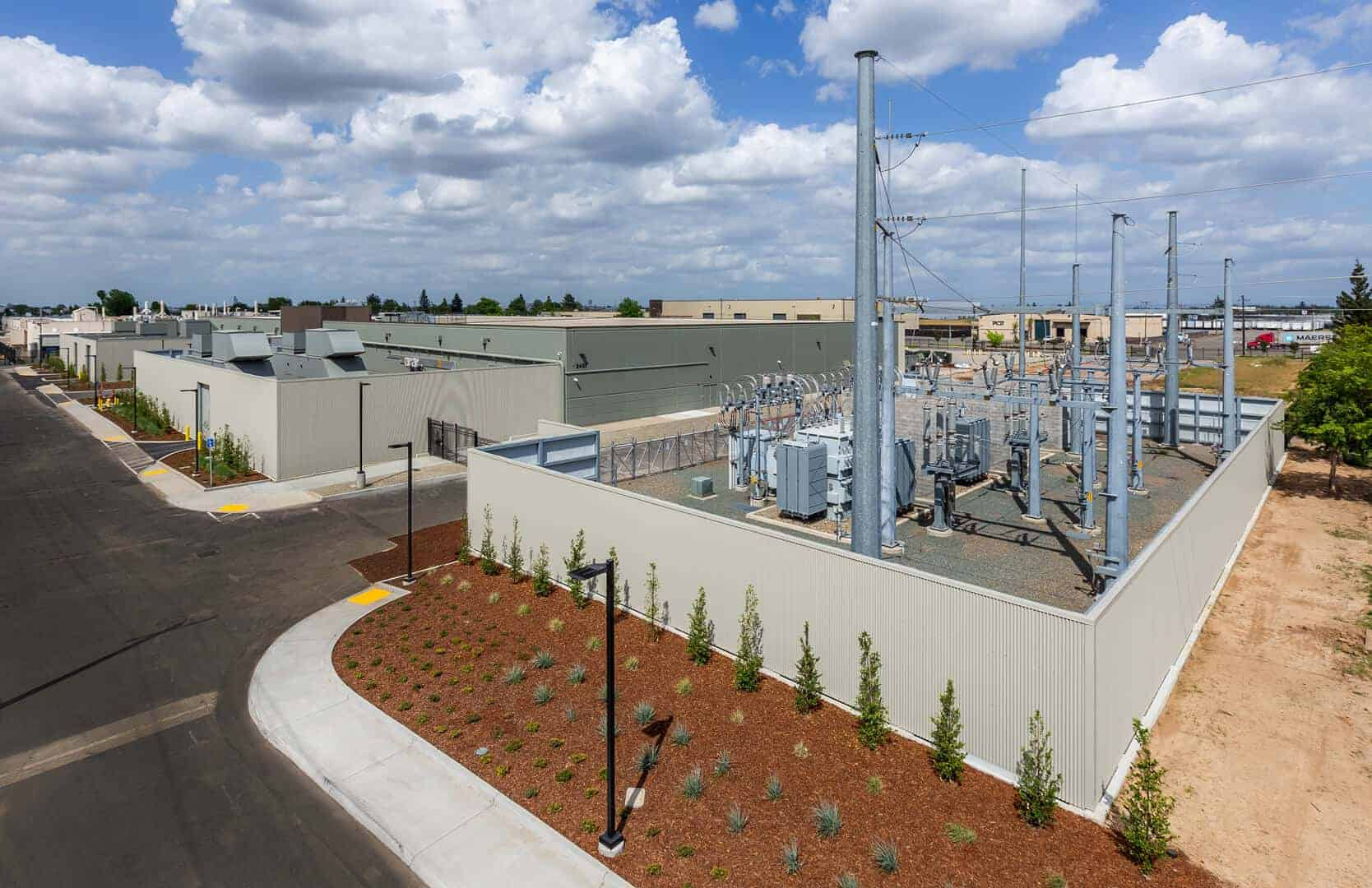 Prime Data Centers Sacramento privately-owned 50 MVA sub-station, expandable to 150 MVA