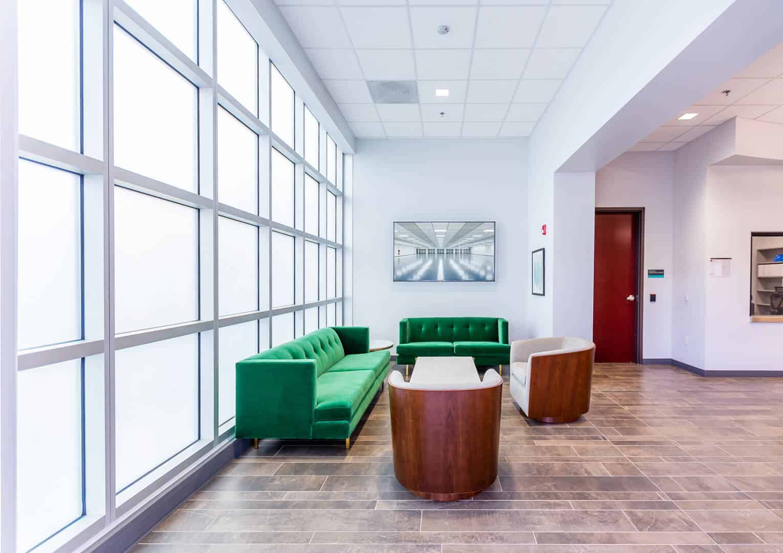 Lobby of Prime Data Centers Sacramento Building One