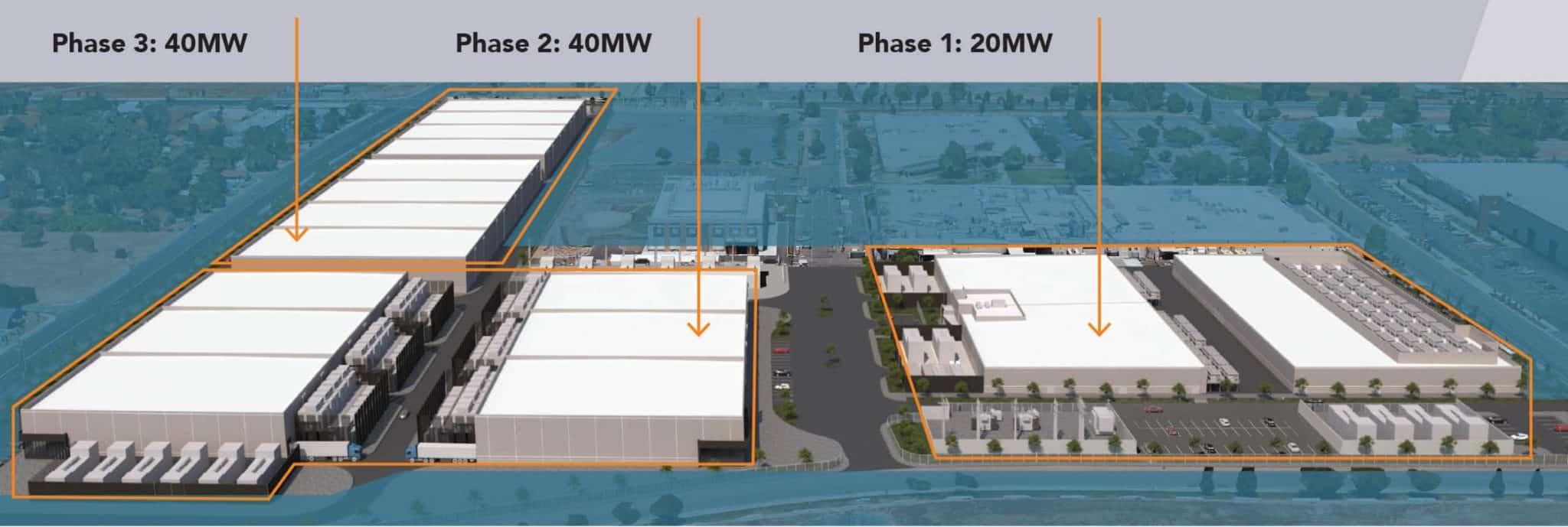sacramento data center real estate development phases