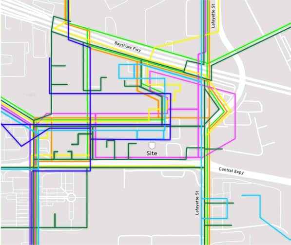 santa clara data center network connectivity map