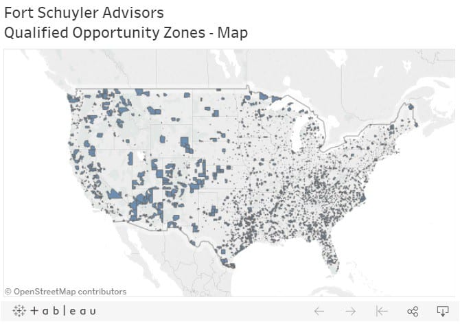U.S. opportunity zone map