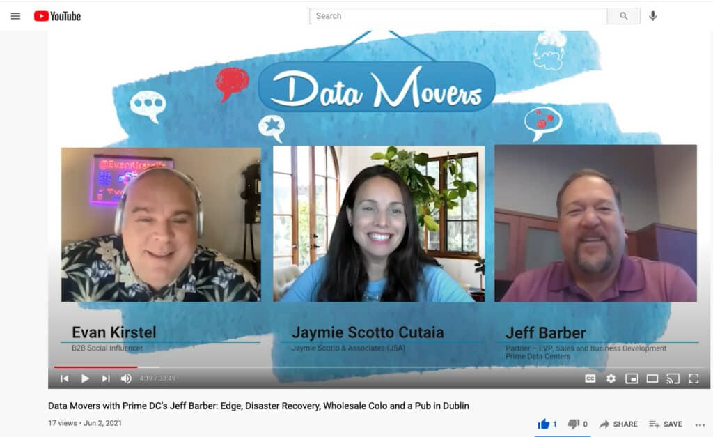 Jeff Barber joins Jaymie Scotto Cutaia and Evan Kirstel on Data Center Movers podcast